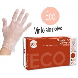 T/XL ECO GUANTES EN VINILO SIN POVO 100u.