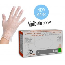 T/XL GUANTES EN VINILO SIN POLVO NEW MARK 100u