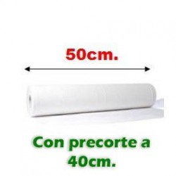 PAPEL CAMILLA EXTRA. 50cm precor 40 cm. (6 Rollos)