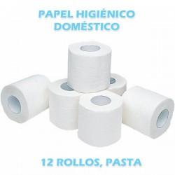 PAPEL HIGIENICO DOMESTICO, 2C/165servicios x 12 u.