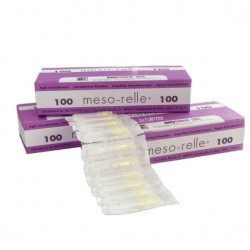 AGUJA MESO-RELLE 27 G 0.40X4 mm 100 unds.