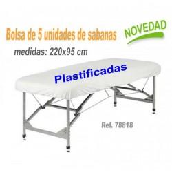 5u. SABANAS AJUST. PLASTIFICADAS BLANCA 220X95 TNT